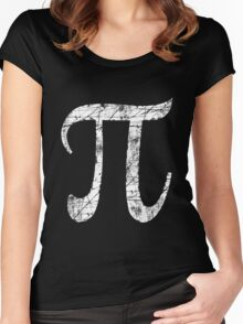Pi Greek Letter Symbol Grunge Style Women's Fitted Scoop T-Shirt