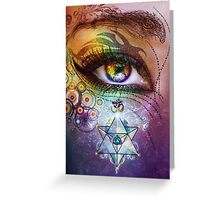 Rainbow Eye: Love and Light Greeting Card