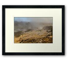 Falls of the Potomac in mist Framed Print