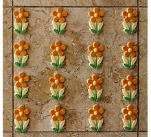 Tile of Flowers Photographic Print