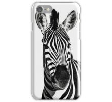 Black and White Zebra. iPhone Case/Skin
