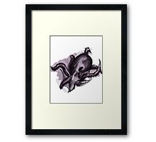 Mysterious Purple Octopus Framed Print