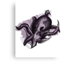 Mysterious Purple Octopus Canvas Print