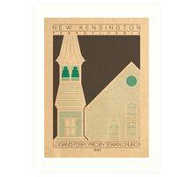 Logan's Ferry Presbyterian Church - 1885 (Green) Art Print