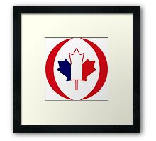 French Canadian Multinational Patriot Flag Series Framed Print