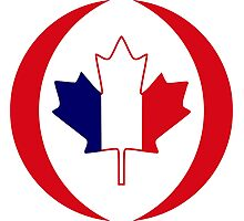 French Canadian Multinational Patriot Flag Series Photographic Print