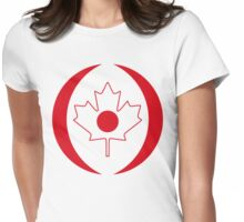 Japanese Canadian Multinational Patriot Flag Series Womens Fitted T-Shirt