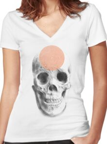 Mind Crawler Women's Fitted V-Neck T-Shirt