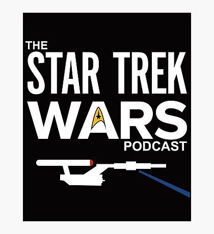 Star Trek Wars Podcast Logo (Transparent Background) Photographic Print