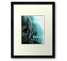 Ekko Face - League of Legends Framed Print