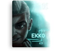 Ekko Face - League of Legends Canvas Print
