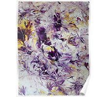 Purple Abstract Flowers Poster