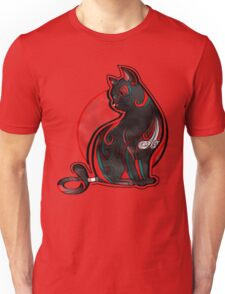 Artistic Abstract Black Cat with 3D effect Unisex T-Shirt