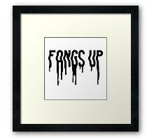 Fangs Up (White) Framed Print