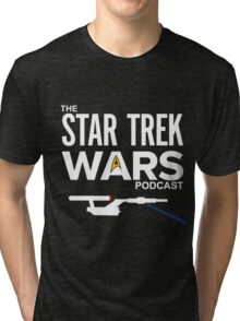 Star Trek Wars Podcast Logo (Transparent Background) Tri-blend T-Shirt