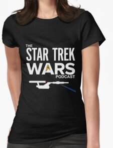 Star Trek Wars Podcast Logo (Transparent Background) Womens Fitted T-Shirt