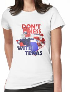 Texas Rangers Punch Womens Fitted T-Shirt