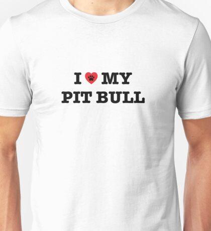 I Heart My Pit Bull Unisex T-Shirt
