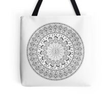 Taíno Mandala in Black Tote Bag