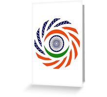 Indian American Multinational Patriot Flag Series Greeting Card