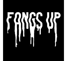 Fangs Up (Black) Photographic Print