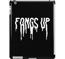 Fangs Up (Black) iPad Case/Skin