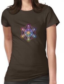 Metatron's Cube Womens Fitted T-Shirt