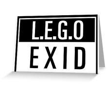 LEGO - EXID Greeting Card