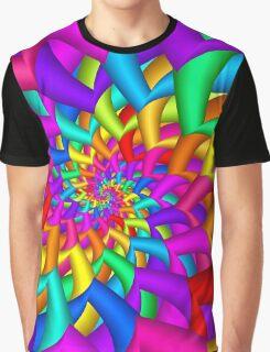 Rainbow Fractal Spiral Graphic T-Shirt