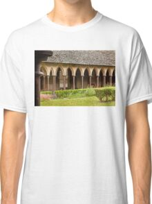 Arches of the Cloister at Mont St. Michel Normandy France Classic T-Shirt