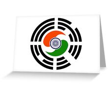 Korean Indian Multinational Patriot Flag Series Greeting Card