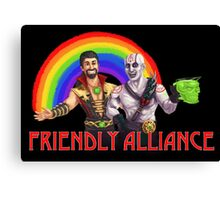 Friendly Alliance Canvas Print