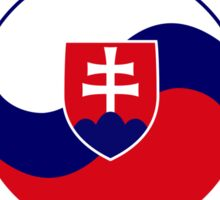 Korean Slovakian Multinational Patriot Flag Series Sticker