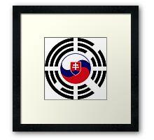 Korean Slovakian Multinational Patriot Flag Series Framed Print