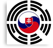 Korean Slovakian Multinational Patriot Flag Series Canvas Print