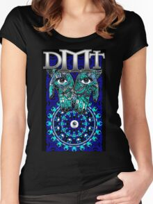 "DMT - Blue ""In gods Hands"" Women's Fitted Scoop T-Shirt"