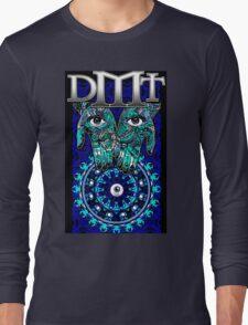 """DMT - Blue """"In gods Hands"""" Long Sleeve T-Shirt"""