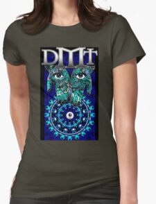 """DMT - Blue """"In gods Hands"""" Womens Fitted T-Shirt"""