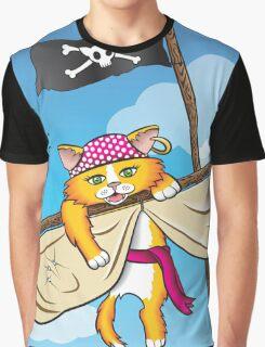 Cat's Adventure Graphic T-Shirt