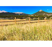 Wooden Fence in Colorado Photographic Print