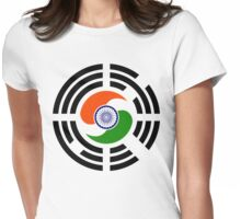 Korean Indian Multinational Patriot Flag Series Womens Fitted T-Shirt