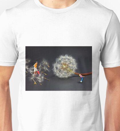 Naughty Girl Playing Dandelion Little People Big World Unisex T-Shirt