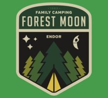 Forest Moon Camping Kids Tee