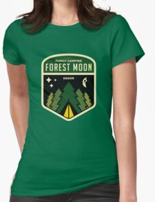 Forest Moon Camping Womens Fitted T-Shirt