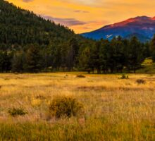 First Light at Rocky Mountain National Park Sticker