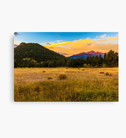 First Light at Rocky Mountain National Park Canvas Print