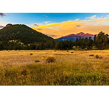 First Light at Rocky Mountain National Park Photographic Print