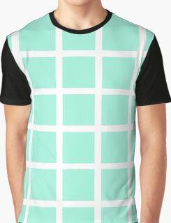 Mint Grid Graphic T-Shirt