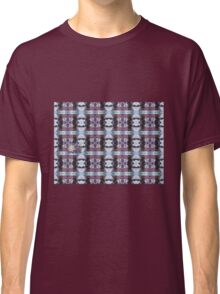 Psychedelic Kalidoscopic Glitched Clematis Flower Classic T-Shirt