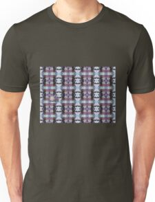 Psychedelic Kalidoscopic Glitched Clematis Flower Unisex T-Shirt